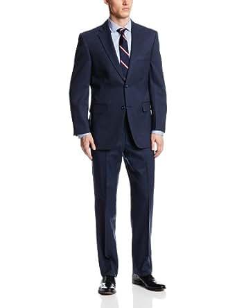 Jones New York Men's Dexter Stripe Suit, Navy, 38 Short