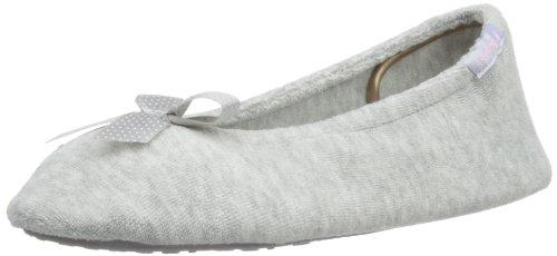 isotoner-pantofole-stretch-terry-donna-grigio-gris-medium