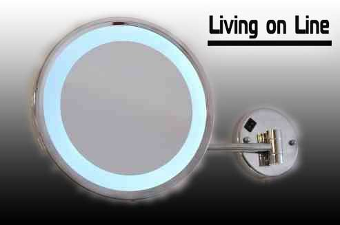 ELLEGANCE - LED makeup shaving cosmetic bathroom bedroom round mirror Hi-Power LEDs / VIDEO WITH ALL OUR MIRRORS HERE