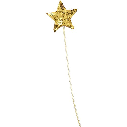 Gold Sequin Star Wand