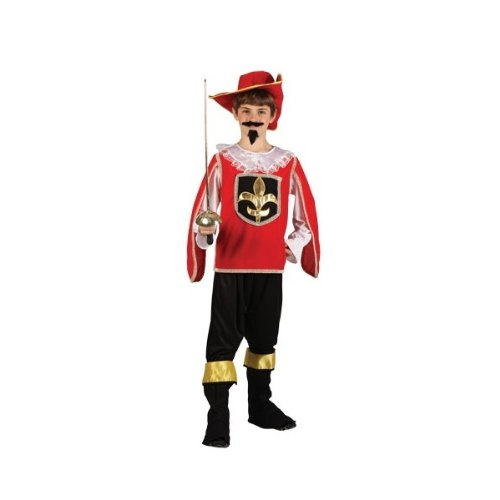 Imagen 1 de Boys Historical Famous Musketeer Halloween Party Cool Fancy Dress Costume / Red 5 - 7 years (disfraz)