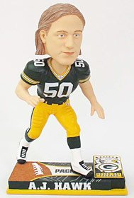 Buy Green Bay Packers A.J. Hawk Forever Collectibles On Field Bobble Head