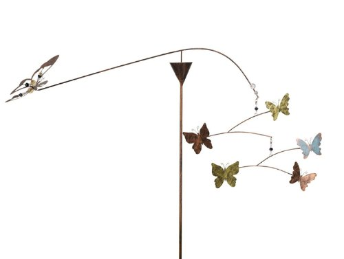 Grasslands Road Balancing Wind Spinner Stake, 37-inch, Butterfly