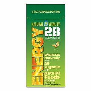 Natural Vitality Energy 28, Whole-Food Energizer 15 Packs