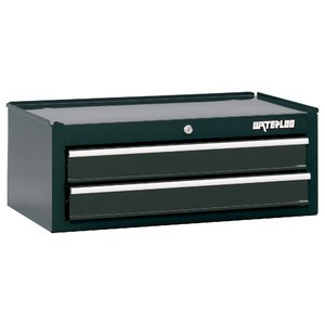 """Waterloo 26"""" 2-Drawer Intermediate Tool Chest With Non-Slip Drawer Liners, Black"""