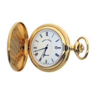 Mount Royal - Gold Plated Full Hunter Quartz Pocket Watch - B4 - (WW1188) - 4.4cm diameter x 0.9cm depth