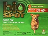 Bio Spot Spot On for Dogs 31-60 lbs., 6 Month Supply