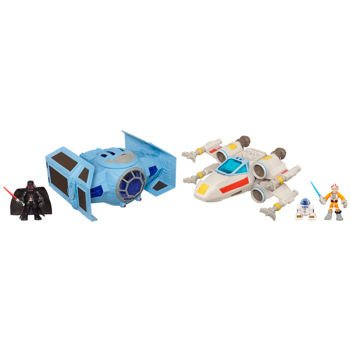 Star Wars Jedi Force Epic Rivals Galaxy Pack Includes X-Wing & Tie Advanced X1 Fighter Vehicle