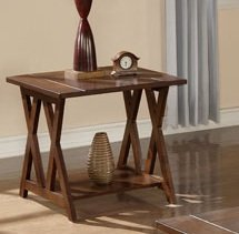Image of 1-pc Beautiful End Table in Espresso Finish PDSF60208 (B004RQ5RRY)
