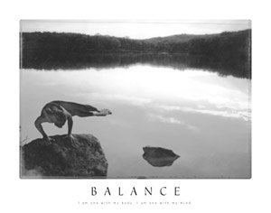 Balance Motivational Yoga Poster