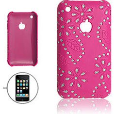 iPhone 3G / 3GS ケース ( カバー ) ピンク ラインストーン