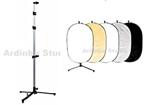 Ardinbir Photo Studio 7' 2m Pop up Background Backdrop Panel Light Diffuser Disc Holder Stand Kit with 60