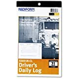 Rediform Driver's Daily Log Book, Carbonless, 5.375 x 8.75 Inches, 31 Duplicates (S5031NCL)