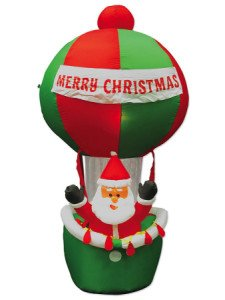 7' Airblown Inflatable Santa In Hot Air Balloon Lighted Christmas Yard Art Decoration front-454064