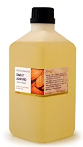 1 Litre Sweet Almond Oil - 100% Pure Cold Pressed