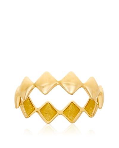 RHAPSODY Anillo Rombos oro amarillo 18 ct