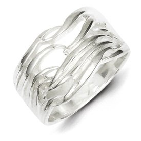 Genuine IceCarats Designer Jewelry Gift Sterling Silver Solid Fancy Ring Size 6.00