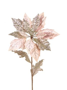 Pack of 12 Winter's Blush Pink Glittered Poinsettia