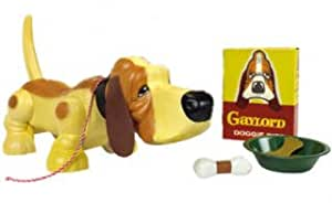 Ideal Toys Gaylord the Pup Puppy Plastic Toy Walking Dog Basset Blood Hound Bloodhound Retro Ideal New