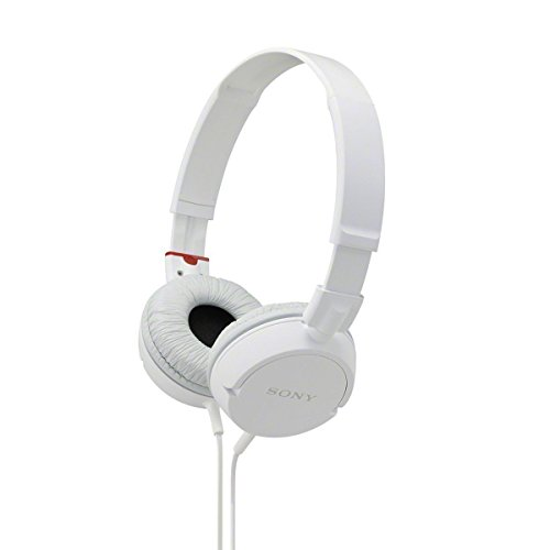 Sony MDR-ZX100 Stereo Wired Headphones Over-the-ear Lightweight Collapsible with Neodymium Magnets & 30mm Drivers, 3.5mm Plug, 1.2m cord, and Adjustable Headband (White) ZX Series (Certified Refurbished)