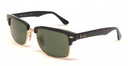 Ray-Ban 0RB4190 601 Square Sunglasses,Black & Arista,52 mm