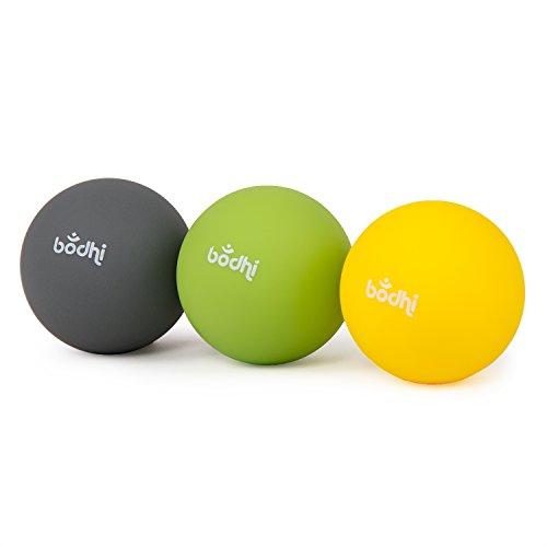 Fazien-Massage-Ball, 3er Set MyoBalls (soft-medium-hart), für Rücken, Gesäß und kleine schwer erreichbare Triggerpunkte