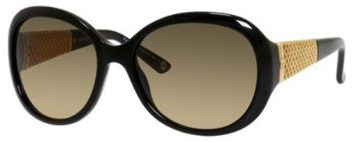 Gucci GG3693/S Sunglass-02XT Black/Gold (ED Brown Gradient Lens)-56mm