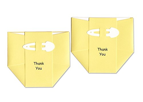 Baby Thank-You Cards - Yellow Diapers - Baby Shower Thank You Notes
