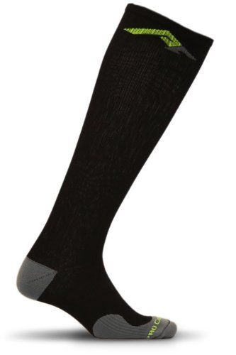 PRO Compression: Marathon (Full-Length, Over-the-Calf) Compression Socks, Black, Large/X-Large