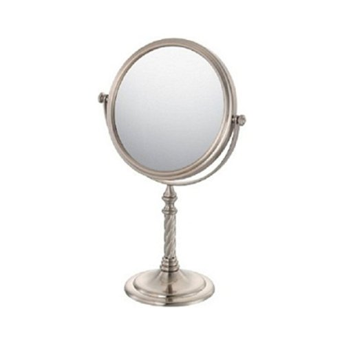 Kimball & Young 81877 Swirl Stem Vanity Mirror, Brushed Nickel front-1034199