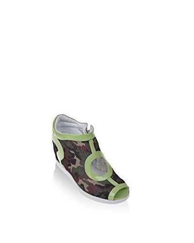 Ruco Line Zapatos peep toe 2510 Blake Net S Verde