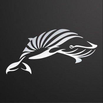 Tribal Whale... Chrome Mirror (18 X 8.9 inch) XRW7X
