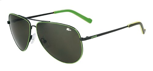 Lacoste Sunglasses L129/S L129S 001 Black Aviator Shades