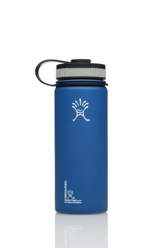 Hydro Flask Insulated Wide Mouth Stainless Steel Drinking Bottle,18Oz,Everest Blue