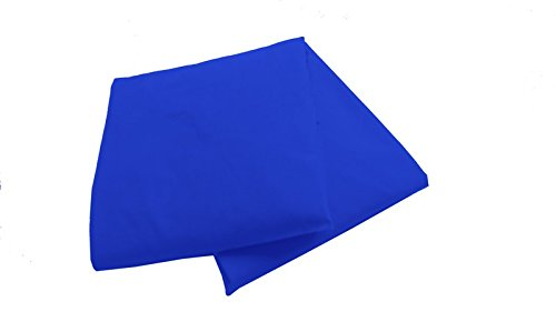 Baby Doll 2 Piece Solid Crib Sheet Set, Royal Blue
