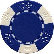 Da Vinci 50 Clay Composite Triple Crown 11.5-Gram Poker Chips (Blue)