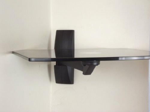 Invision 174 Ultra Modern Av Wall Mounted Glass Shelf