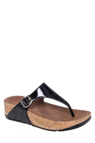 The Skinny Low Wedge Thong Sandal