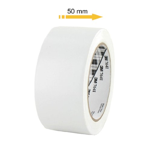 ruban-adhesif-vinyle-3m-764-blanc-50mm