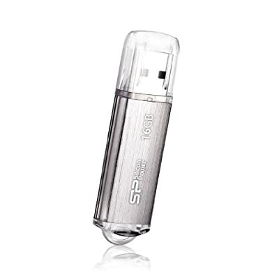 Silicon Power Ultima II-I Series 16 GB USB 2.0 Flash Drive - SP016GBUF2M01V1S (Silver)
