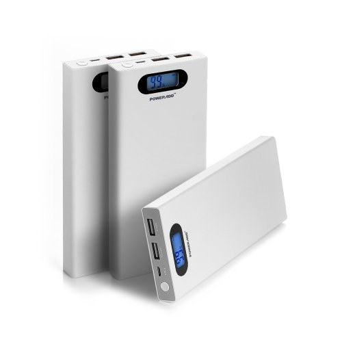 Poweradd™ Pilot S 12000Mah Dual Usb Anti-Explosion Portable Charger External Battery Power Pack With Smart Lcd Display For Iphone 5S, 5C, 5, 4S, Ipad Air, Mini, Samsung Galaxy Note 3, Note 2, S5, S4, S3, Galaxy Tab 3, 2, Blackberry, Htc One, M8, Lg Optimu