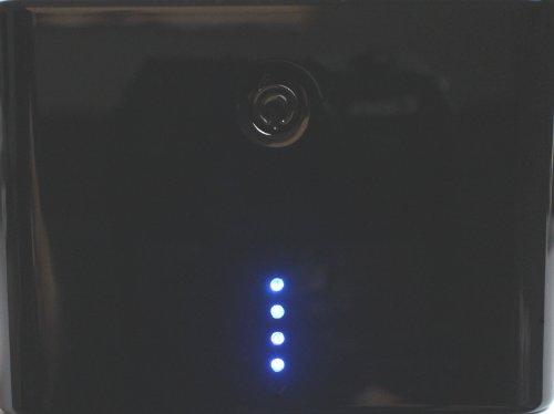 GSK モバイルバッテリー 大容量 12000mAh ブラック 黒色 訳あり品 [黒点やスリ傷等] iPhone5 iPhone5S iPhone5C 新iPad iPadmini 対応 [iOS7対応 新型コネクター同封モデル] [180日保証] [国内品質管理]
