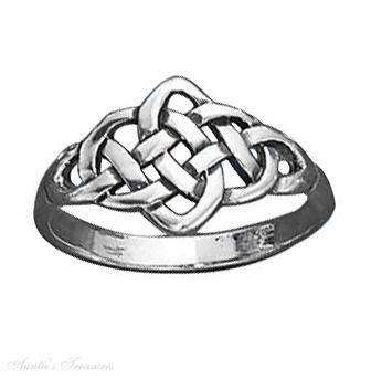 Sterling Silver Celtic Knot Ring Size 10