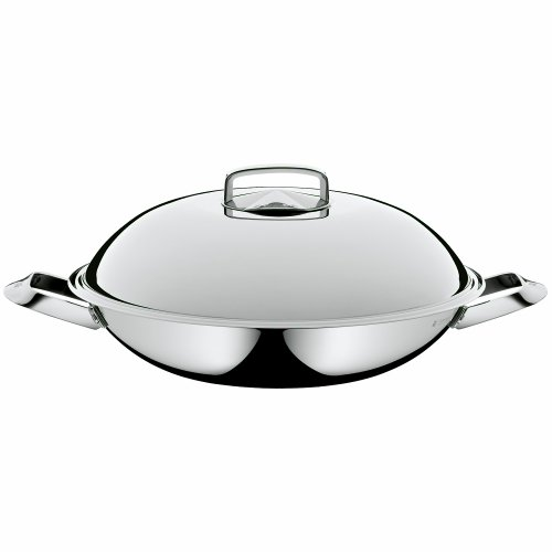 WMF Multi-Ply Wok with Lid, 14-1/4-Inch