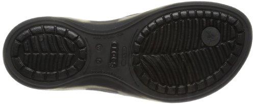 crocs Women's Adrina Flip Flop,Black/Black,8 M US