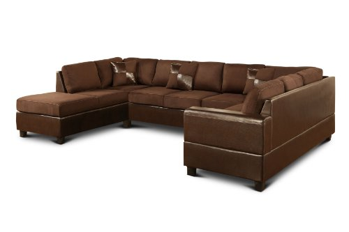 Bobkona 3 piece el dorado grande sectional sofa set with for Sectional sofas el dorado