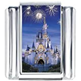 Disney Cinderella Castle With Fireworks Photo Charm