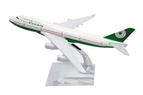 TANG DYNASTY(TM) 1:400 16cm Boeing B747-400 EVA Air Metal Airplane Model Plane Toy Plane Model (Eva Air Model compare prices)