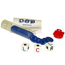 Left Right Center LCR Dice Game - Choice of 4 Colors. Product Category: Toys & Games > Games