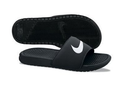 Nike Benassi Swoosh Men'S Slides Black/White 312618-011 (14 D(M) Us)